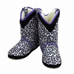 Cicciabella Snow Leopard Cowgirl Riders Boot Slippers