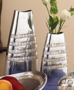 Mother Of Pearl Inlaid Vases ~ Medium