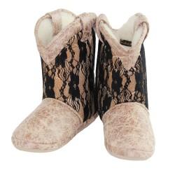 Cicciabella Caviar & Lace Cowgirl Riders Slipper Boots ~ Women's