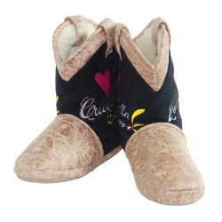 Cicciabella Young Rhinestone Cowgirl Riders Boot Slippers