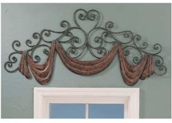 Scroll & Swag Iron Cornice